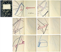 untitled (sketchbook w/ 6 works) by eva hesse