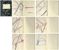 untitled (sketchbook w/ 6 works) by eva hesse