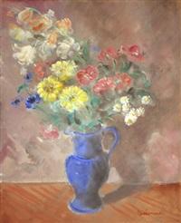 pichet de fleurs by giovanni leonardi