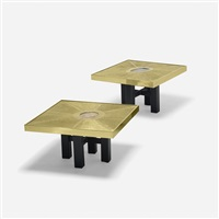 coffee tables (pair) by paco rabanne