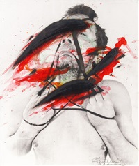ein blutiger durchbruch (arbeit aus der serie face farces) by arnulf rainer