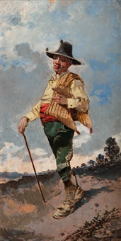 a spaniard wearing traditional dress by joaquín agrasot y juan