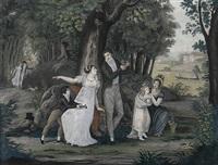 le rendez-vous à la fôret by jean-pierre-marie jazet