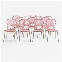 set of twelve zig zag chairs from l'est parisien (set of 12) by fernando and humberto campana