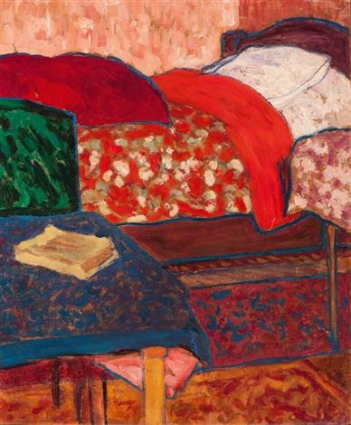 le couvre lit rouge by pierre paulus