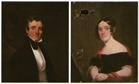 portrait of mr. churchill samuel (+ portrait of mrs. judith talbot samuel; pair) by chester harding