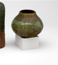 pair of vases by fantoni