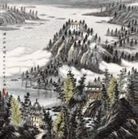 溪山疏雨图 by zeng xianguo