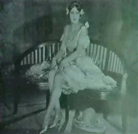 portrait of a showgirl by james abbe