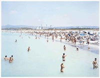 rosignano 3 women (from landscape with figures) by massimo vitali