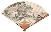 松林对弈 (figure) by bai zongwei