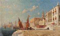 venice, noonday on the river by walter franklin lansil