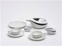 teeservice drop (set of 21) by luigi colani