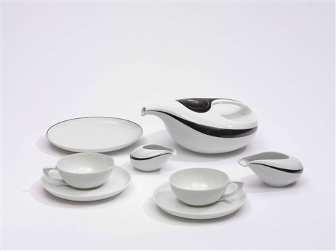 teeservice drop set of 21 by luigi colani