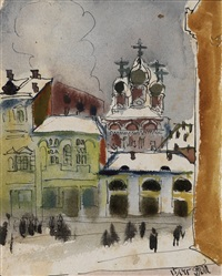 street corner in moscow by tatyana alekseevna mavrina