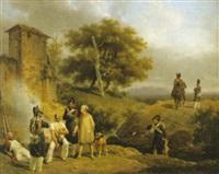 rastande kavallerister by hippolyte lecomte