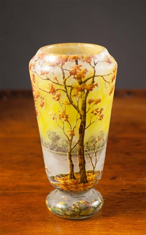Daum Nancy Cameo Glass Vase By Daum On Artnet