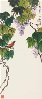 葡萄小鸟 by huang huanwu