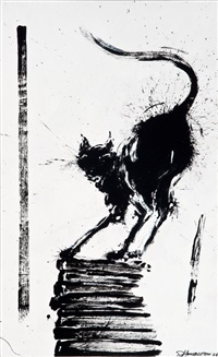 untitled (shadow cat) by richard hambleton