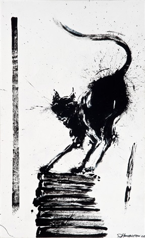untitled shadow cat by richard hambleton