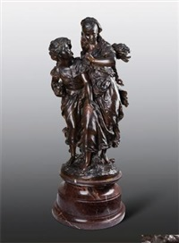 黄昏 (le crepuscule) by hippolyte françois moreau
