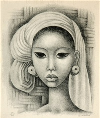 head of a balinese girl by miguel covarrubias