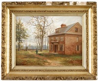portrait of william penn or letitia house, fairmount park, philadelphia, pa by albert dunington