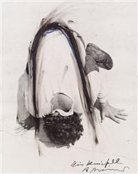 ein kniefall (arbeit aus der serie face farces) by arnulf rainer