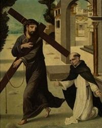 aparición de cristo a san pedro mártir by juan correa de vivar