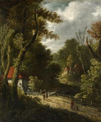 waldlandschaft mit mühlen by anonymous-dutch (17)