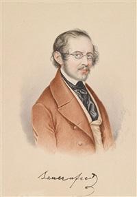 porträt des dramatikers eduard von bauernfeld (1802-1890) by franz dobiaschofsky