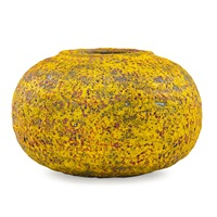 vessel with fine yellow and red volcanic by polia pillin