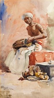 orientalischer trommler by florimond (flori-marie) van acker