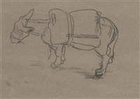 untitled (donkey) (+ others) by william strang
