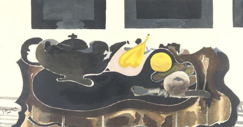 théière et fruits by georges braque