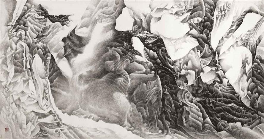 ink landscape ii by liu dan