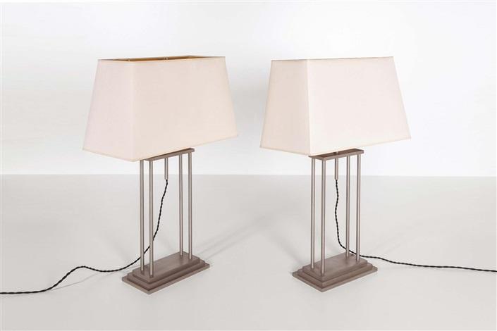 Coppia di lampade da tavolo by romeo rega on artnet