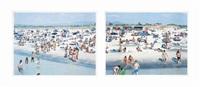 rosignano (diptych) (from landscape with figures (set of 2)) by massimo vitali