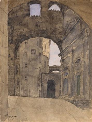 street in italy by anna petrovna ostroumova lebedeva