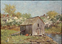 fish house in spring by abbott fuller graves