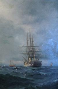 fartyg till sjöss by ludvig otto richarde