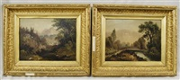 vermont landscapes (2 works) by d.a. fisher