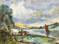 river slaney, wexford on the right, waterford on the left by henry william moss