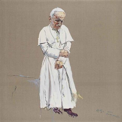 pope by zeng fanzhi