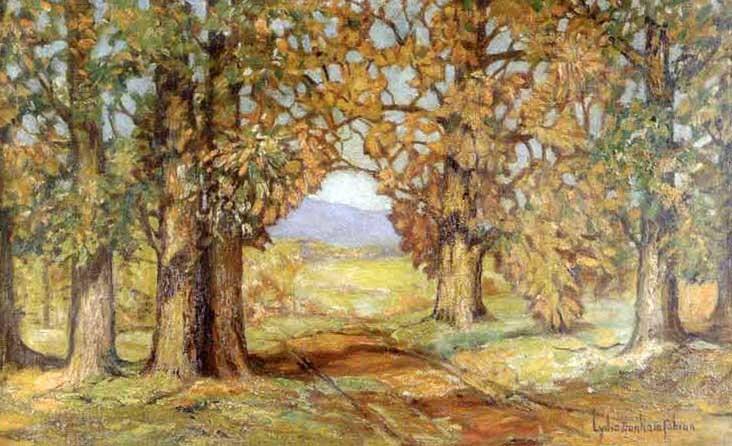 summer landscape dogwoods by lydia dunham fabian