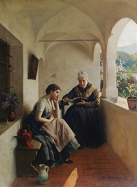 storytime on the balcony by albert ritzberger