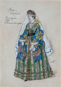 kostümentwurfszeichnung by aleksandr yakovlevich golovin