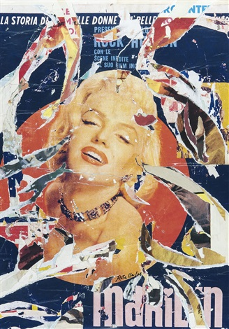 marilyn radiosa by mimmo rotella