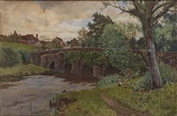 elstead bridge, sussex by john mcdougal