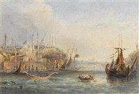 adrianople (+ the golden horn; pair) by thomas richard hofland